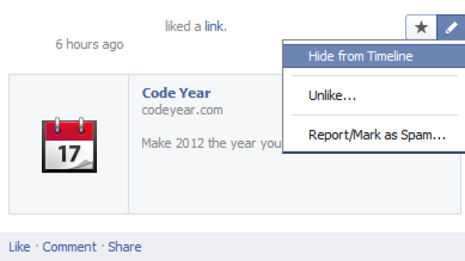 HOW TO: Hide Post From Your Facebook Timeline (With Screenshots)
