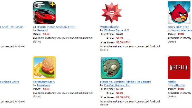 Best Selling Kindle Fire Apps: Paid and Free