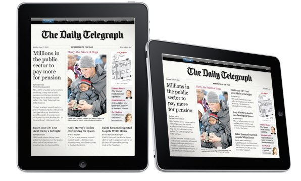 ipad the daily news corp
