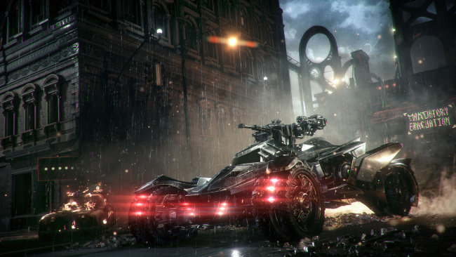 Batmobile-In-Batman-Arkham-Knight-Background