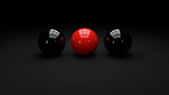 black red balls