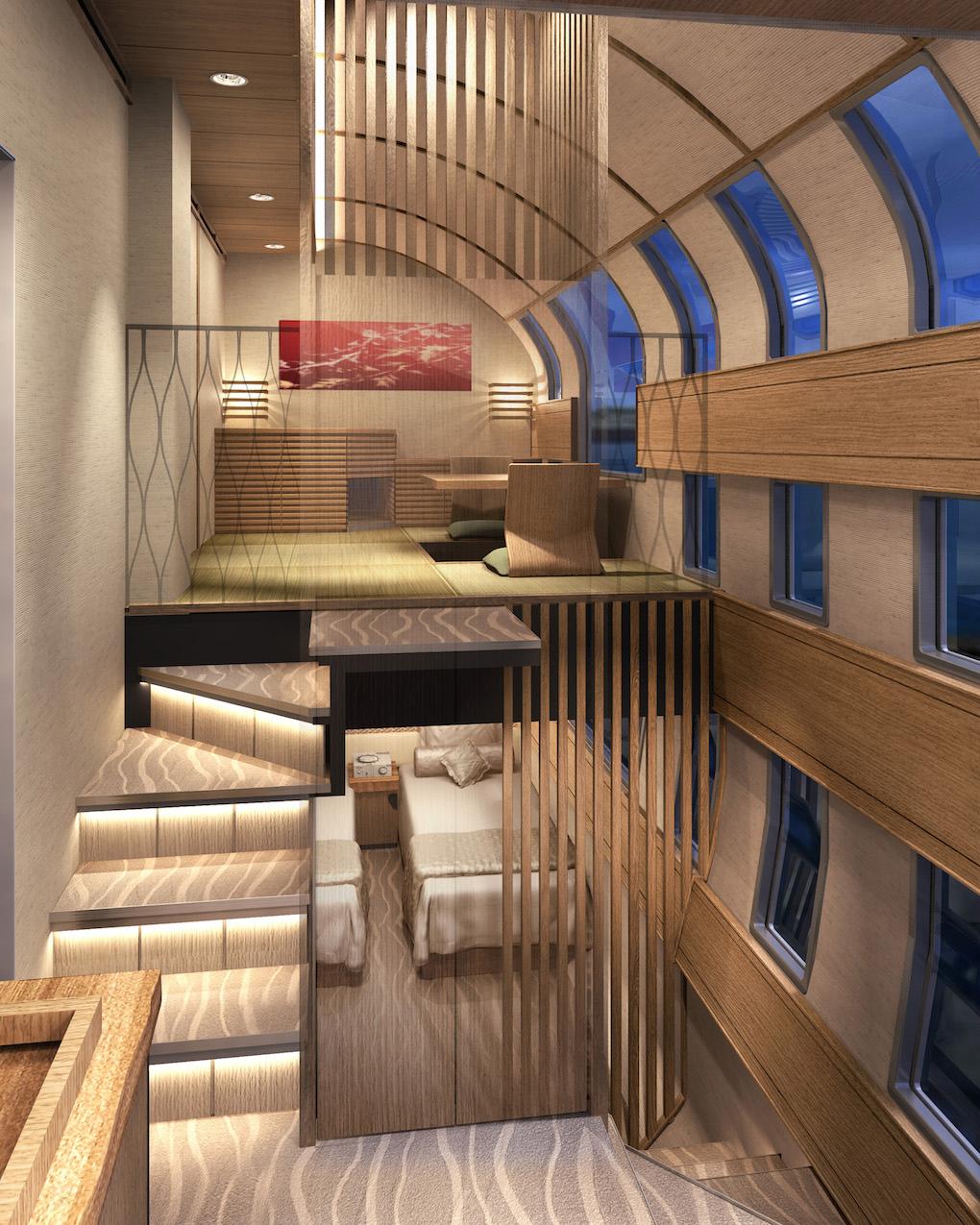 Japan's Futuristic Model Cruise Trains